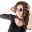 Young woman with headphone — Stock Photo #12175584