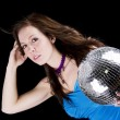 Young woman with disco ball — Foto Stock