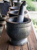 Pierre mortier et pilon — Photo