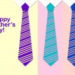 Happy Father's Day with a pattern of colorful ties — Stock Photo