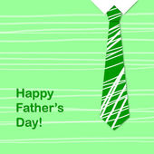 Green tie and the sentence happy fathers day — Stock Photo