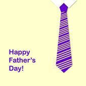 Krawatte und der satz glücklich vatertag — Stockfoto