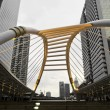 Stock Photo: Pubic skywalk with modern buildings of Bangkok, sepicolor