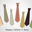 3D Happy Father's Day card — Stock Photo