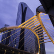 Stock Photo: Pubic skywalk at bangkok downtown square in business zone