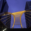 Stock Photo: Pubic skywalk at bangkok downtown square
