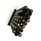 Stack of colored pencils — Stock Photo
