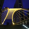 Pubic skywalk at bangkok downtown square — Stock Photo