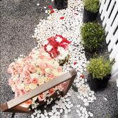 Bouquet de roses, décoration de mariage — Photo