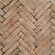 Stock Photo: Herringbone pattern brickwall