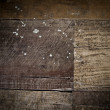 Dramatic rustic wood planks - Stock Photo
