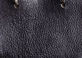 Dark brown leather — Stock Photo