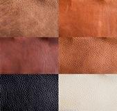 Läder texturer collection — Stockfoto