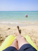 Resting in the beach — Stock Photo