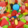 Sweetened assortment of multicolored candies — ストック写真