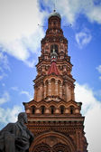 Feodor Chaliapin and Belltower of Epiphany Church — Stock Photo