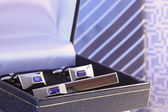 Tie pin and cuff link — Stock Photo