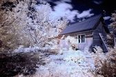 House in village infrared — Stock Photo