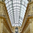 Milan, Vittorio Emanuele II Gallery, Italian architecure. — Stock Photo