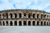 Nimes Arenas, historic Roman amphitheater, Provence, France. — Stock Photo