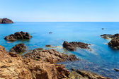 Esterel red rocks coast and sea. Cote Azur, Provence, France. — Stock Photo