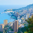 Monaco Montecarlo principality aerial view cityscape sunset. Azu — Stock Photo