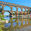 Roman aqueduct Pont du Gard, Languedoc, France. Unesco site. — Stock Photo