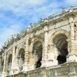 Stock Photo: Nimes Arenas detail, historic Romamphitheater, Provence, Fran