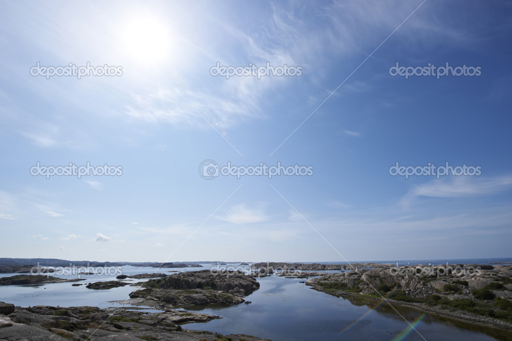 Bright summer day on the coast of western Sweden  Foto Stock #11039131