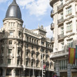 Building at the Gran Via.Madrid, Spain. - Stock Photo