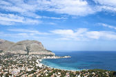 Panoramic view of Mondello's gulf. — Stock fotografie