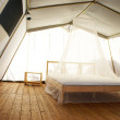 Inside a large luxurious tent — Stock Photo