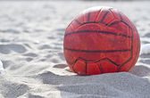 Orange soccer ball — Stock Photo