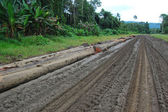 Haulage road in outback of Papua New Guinea — Stock Photo