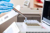 Loading DNA samples for PCR — Stock Photo