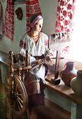 Ukrainian girl waxwork — Stock Photo
