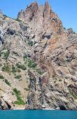 Kara Dag mountain with grot — Stock Photo