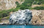 Lonely rock near Kara Dag mountain — Stock Photo