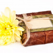 Himaayan soap with yellow flower - Stock Photo