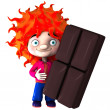 Royalty-Free Stock Photo: Boy with chocolate