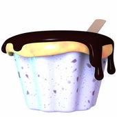 Cup cream — Stock Photo