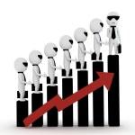 Growth / raise / share market — Stock Photo #12020909