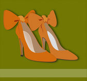 Glamour shoes — Stock Vector