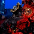 Colorful artistic masks on the Carnival of Venice — Stock Photo