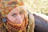 Pretty woman portrait outdoor — Stock Photo