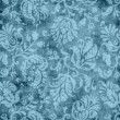 Vintage Blue Floral Tapestry Pattern — Stock Photo #11939801