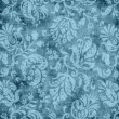 Stock Photo: Vintage Blue Floral Tapestry Pattern
