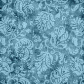 Vintage Blue Floral Tapestry Pattern — Stock Photo