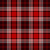Seamless Red, White, & Black Plaid — Stock Photo