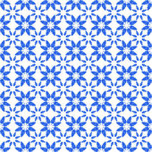 Seamless Blue & White Floral Star Pattern — Stockfoto